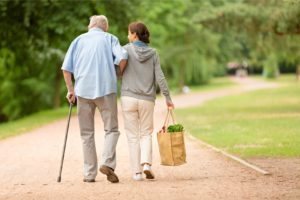2 Elderly Seniors Being Active at Silver Birch Assisted Living Community