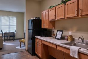 Studio kitchen in Michigan City IN at Silver Birch