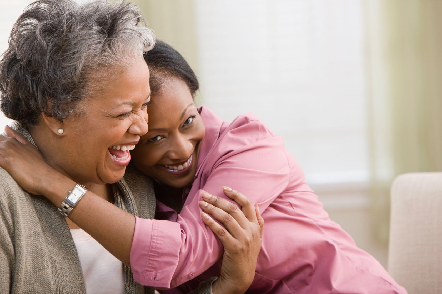 2 Women Hugging at Silver Birch Senior Independent Living Communities